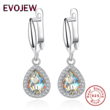 Authentic 100% 925 Sterling Silver Drop Earring AAA Austria Crystal Dangle Earrings Women Dazzling CZ Zircon Jewelry Accessories