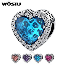 Hot Sale 100% 925 Sterling Silver Dazzling Radiant Heart Shape Charm Beads Fit Original Pandora Bracelet Authentic Jewelry Gift