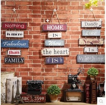 Retro personality walls of the bedroom creative home decorations ornaments room Bar Restaurant English words wall hanger
