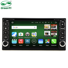 GreenYi Octa Core 2GB RAM Tablet PC Android 6.0 Universal Car DVD GPS Radio For Toyota RAV4 Camry Crown Previa Tundra Sequoia