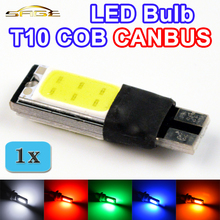 flytop T10 COB CANBUS 194 W5W LED Error Free Car Light Automotive CAN BUS Lamp Bulb Color White Red Green Blue Yellow(China)