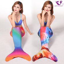 Myle Factory Unique Design Mermaid Swim Fin swimmable Mermaid Tail Halloween Costume For Monofin Dress Women With Monofin Adult(China)