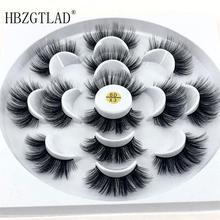 PKR 342.95  30%OFF | HBZGTLAD 7 pairs natural false eyelashes fake lashes long makeup 3d mink lashes eyelash extension mink eyelashes for beauty