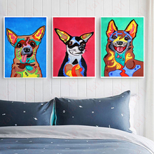 Unframed 3 Pet Dogs Can Choose Nordic Style Canvas Print painting Modern Lovely Dog Poster Wall Art Picture For Home Decoration