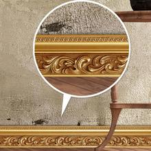 10CM x5 M European style 3D wall stickers Luxury Building Brick Skirting Line Removable living room bedroom window Decor 3(China)