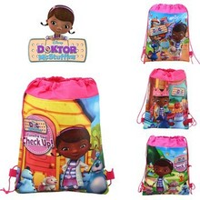 12Pcs Lovely Dora Cartoon Kids Drawstring Printed Backpack Beach Shopping School Traveling Party Bags Birthday Gifts 34*27CM