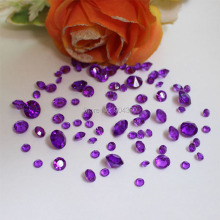 Free Shipping LANZZAY 850pcs Mix 4 Sizes Purple Acrylic Diamond Confetti Crystal Wedding Party Vase Decoration Table Scatters