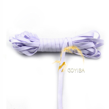 GOYIBA 5 Yard 4mm Lilac Mist Solid Color Skinny Spandex Bands Elastics Kids Hairband Headband Tie Dress Lace Trims Sewing Notion