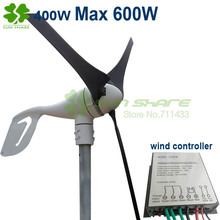 wind power generation  3blades Max 600w with 400w wind controller charging battery directly . strong wind protection function