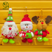 3pcs/lot Christmas ornaments gifts 17*7CM snowman elk Snowman Deer color scarf Christmas tree decor kid toy happy holidy A