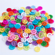 smiry 100 Pcs 13*13mm Sun Flower Four Holes Flatback Multicolor Plastic Buttons For DIY Lover Sewing Garment Supplies Accessory(China)