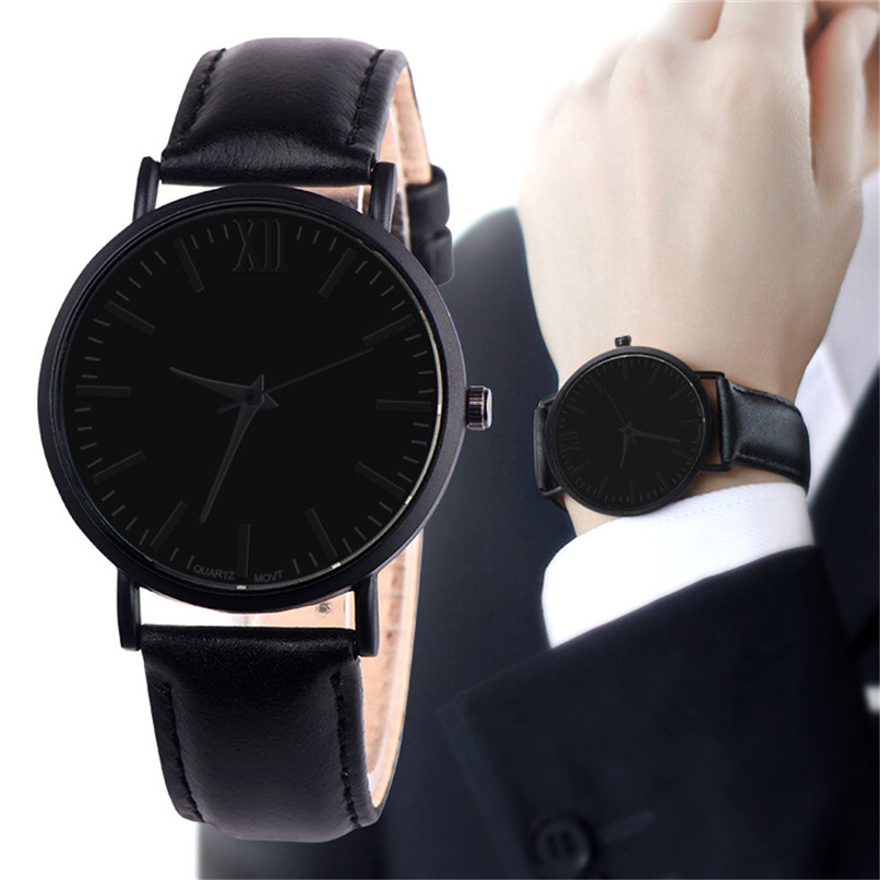 New Black Quartz Watches Men Watches Top Brand Luxury