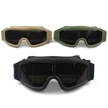 Top Quality Military Airsoft Tactical Goggles Shooting Glasses UV400 Anti-UV 3 Lens Motorcycle Windproof Wargame Goggles(China)