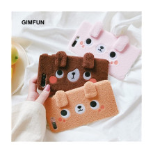 Gimfun Korea Winter Cartoon Plush Phone Case Pink Brown Dolls Tpu Case for Iphone X 6 6s 7 8 Plus Cover Cute Animals Fur Case(China)