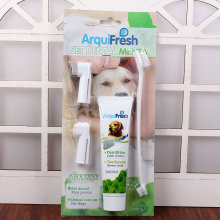 brand news Pet Toothpaste Tooth brush Set Oral Hygiene Anticalculus Green tea Smell Dog Supplies free shipping