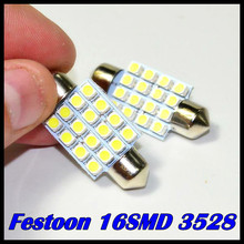 Auto led festoon 16smd 1210 3528 led 36mm 39mm 42mm 31mm c5w Led Dome light CAR  Interior Light Bulbs Auto Roof lamp