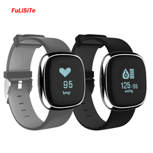 Bluetooth 4.0 Bracelet Smartband Heart Rate Monitor Vibrating Watch Blood Pressure Fitness Wristband For Android ios Smartphone(China)