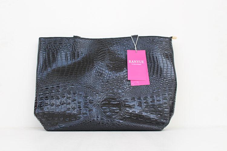 Brand Fashion Casual Women Shoulder Bags Silver Gold Black Crocodile Handbag PU Leather Female Big Tote Bag Ladies Hand Bags Sac 2