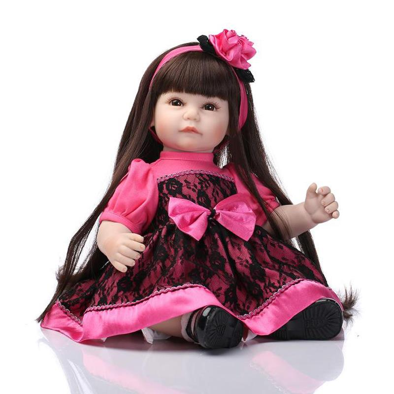 UCanaan 50-52CM Silicone Reborn Baby Dolls Cartoon Handmade Toy Cute Reborn Baby By NPK Dolls 2016 New Arrived Children Gift<br><br>Aliexpress
