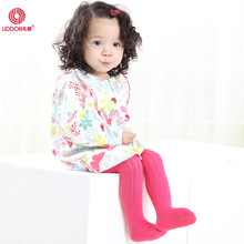 LIDDON combed cotton pantyhose spring and autumn striped baby pantyhose cotton color children socks