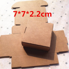 50pcs 7*7*2.2cm Paper Favor Gift Box Kraft Paper Candy Boxes Paper Gift Box Bag Wedding Party Supply Accessories Favor(China)