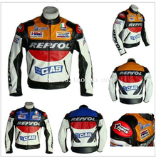 Free shipping REPSOL PU men's motorcycle jacket motorcycle racing jacket PU leather motorcycle jacket