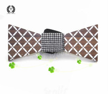New Arrivel Fashion Handmade Wood Bow ties Bowtie Butterfly Gravata Ties For Men Geometric Wooden bow tie