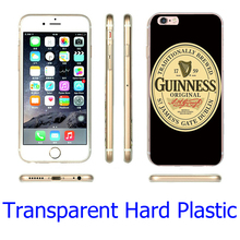 Band Beer Guinness Transparent Phone Case for iPhone 5S 5 SE 5C 4 4S 6 6S 7 Plus Cover ( Soft TPU / Hard Plastic for Choice )
