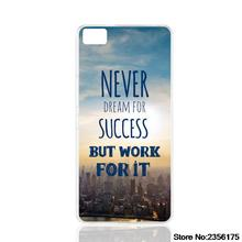 never dream for success but work for it cell phone Cover Case for Iphone 4S 5 5S 5C 6 6S Plus 7 7 Plus for Samsung galaxy S3/4/5