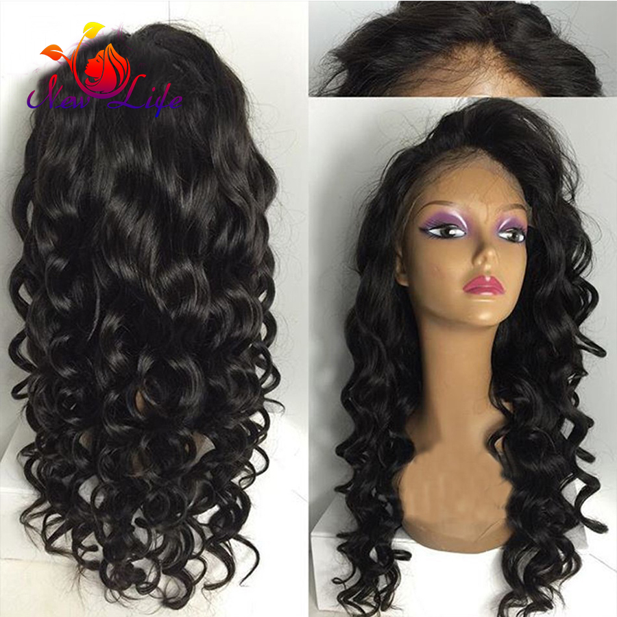 Natural Looking Loose Wave Hair Wigs Bangs Wigs Top Quality 180 Density Glueless Synthetic Lace Front Wig Fast Shipping<br><br>Aliexpress