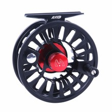 2017 New Arrival Fly Fishing Reel 5/6 WT Aluminium Fly Reel CNC Machine Cut Stainless Steel Teflon Disc Drag Fishing Reel Black