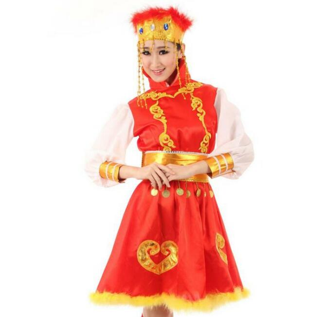 Fancy Dress Costumes Dress Ethnic Mongolian Dance Costume Performance Clothing(China (Mainland))