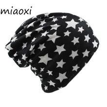 miaoxi Knit Women Star Hat Scarf Winter Warm Fashion Caps For Girl Beanie Skullies Hip Hop Floral Female Bonnet Sale