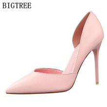 designer bigtree shoes wedding extreme high heels sapatos mulher scarpin tacones stiletto ladies pumps woman valentine shoes(China)
