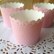 6*5*4.5cm Dots baking cupcake liners paper wrappers Valentines day Party Decoration Boda baking cups 25 pcs/lot