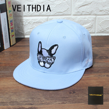 VEITHDIA Fashion Travel Baseball Cap Outdoor Sunshade Hat Men's Lady Sun Cap Puppy Ping Hip Hip Hats Sports Couples Hat(China)