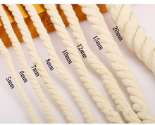 2mm 3mm 6mm Braided Woven Twisted Cotton Cord DIY Beading String Packing Rope Decorative Craft Thread Jewelry Bags Accessories