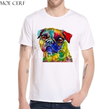 Hot Sales Mens Pugs Dog Animal T Shirt High Quality Priting T Shirt New Fashion Men Brand Tops Tee Boy Hiphop Shirt L10-C-109