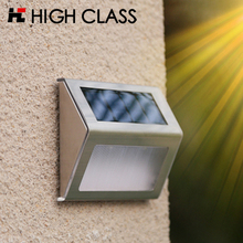 5F Good Quality Stainless Steel Outdoor Rainproof LED Garden Solar Light Backyard Decoration Wall Lamp Stair Lighting(China)