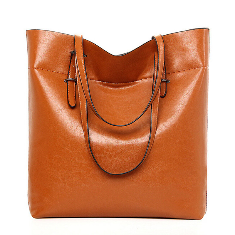 BARHEE Quality Designer Vintage Bucket Bag Women Handbag Large Tote Bags for Office Ladies Oil pu Leather Hand Bag Brown Black<br><br>Aliexpress