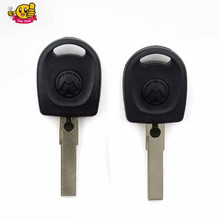wholesales price 100pcs/lot  Blank Shell For Volkswagen (VW) B5 Passat Transponder Key (HU66) + with logo Free Shipping