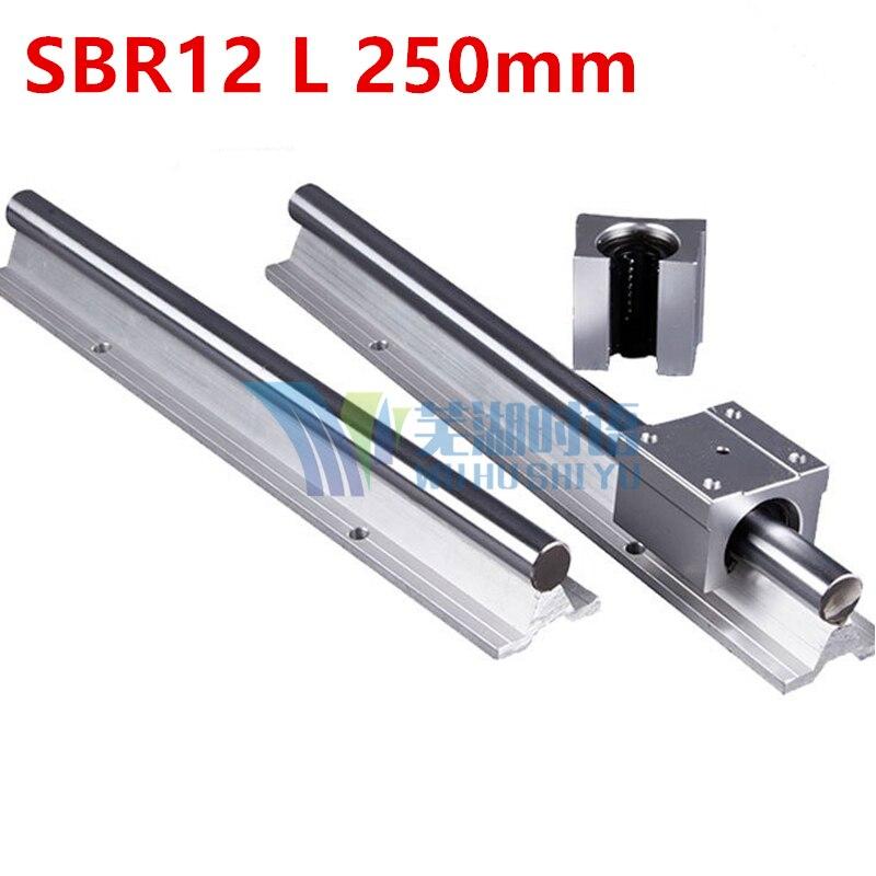 12mm linear rail SBR12 L 500mm support rails 1 pcs  + 2 pcs SBR12UU blocks for CNC for 12mm linear shaft support rails<br>