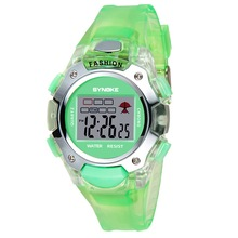 Luminous Waterproof Children Watch Boys Girls Digital Sports Watches Student Plastic Kids Alarm Date Casual Watch 6 Colors 99319(China)