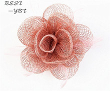 Sinamay Hat Fascinator Flower Headband Hairband Wedding Hats And Fascinators Bridal Hair Acessories Headbands Headdress