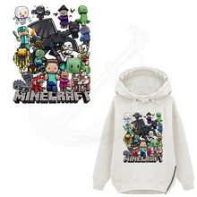 MineCraft stickers 30*24CM T-shirt Sweater thermal transfer paper iron on patch Patches for clothing