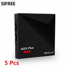 5PC SIFREE A5X Plus Mini Rockchip RK3328 Quad Core Android 7.1 TV Box 1GB/8GB set top box 4K MINI PC Box Support USB 3.0 PK V88