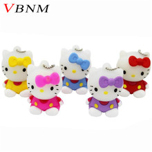 VBNM hot sell 5 colors Hello Kitty USB Flash  Drive cat pen drive special gift fashion cartoon Animal pendrive 4GB/8GB/16GB