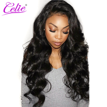 Celie Hair Brazilian Virgin Hair Body Wave 100% Unprocessed Human Hair Weave Bundles Natural Black Color Can Buy 3 or 4 Bundles(China)