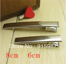 Sweet Bell Free shipping  20pcs/lot  8 cm, 6 cm thick hairpin quality duck clip hair accessories