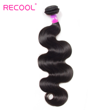 Recool Hair Malaysian Body Wave 10-28 inch 100% Human Hair Bundles Natural Black Color Remy Weave Hair Extensions Free Shipping(China)